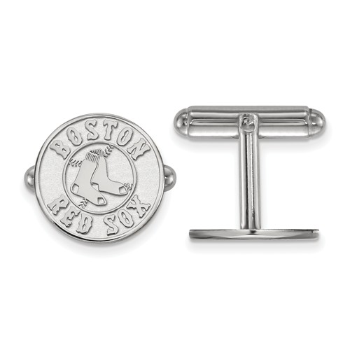 Sterling Silver Boston Red Sox Cuff Links