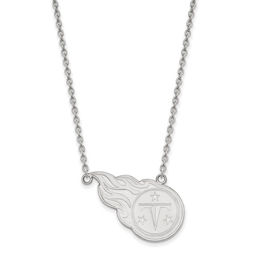 Tennessee Titans Pendant Necklace 14k White Gold