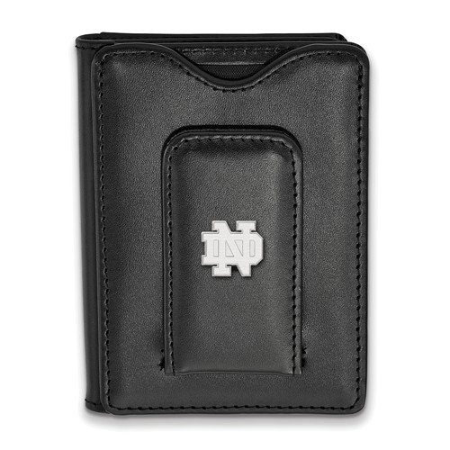 University of Notre Dame Wallet with Sterling Silver ND Accent