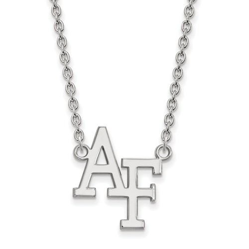 United States Air Force Academy Logo Necklace 3/4in 14k White Gold