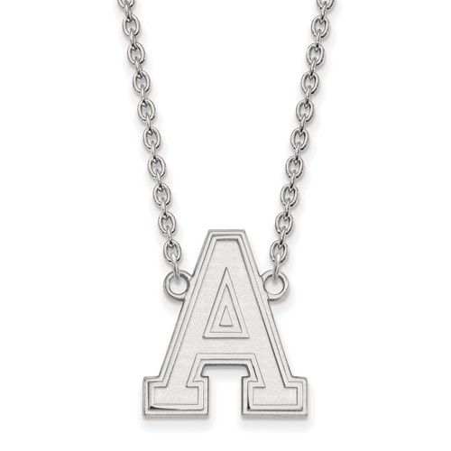 United States Military Academy Logo Necklace 3/4in 14k White Gold