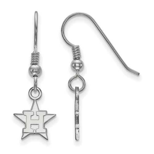 Sterling Silver Houston Astros Extra Small Dangle Earrings