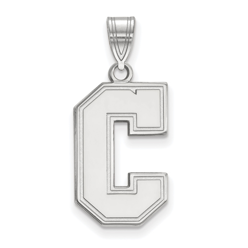 College of Charleston C Pendant 3/4in Sterling Silver