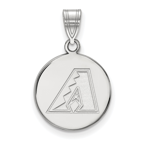 Sterling Silver 5/8in Round Arizona Diamondbacks Pendant