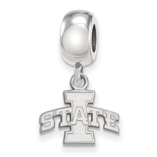 Iowa State University Tiny Dangle Bead Sterling Silver