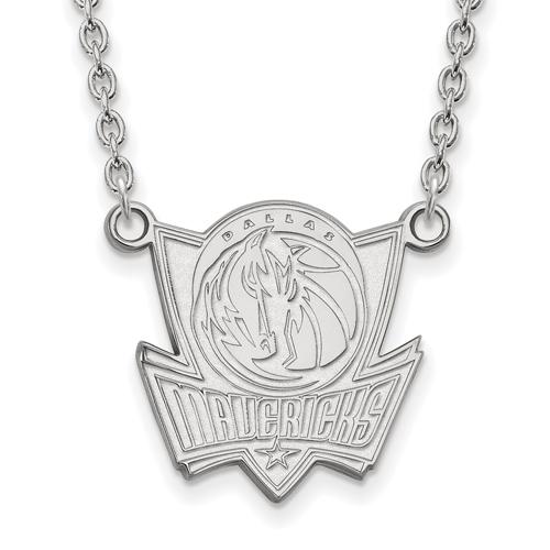 Sterling Silver Dallas Mavericks Pendant on 18in Chain