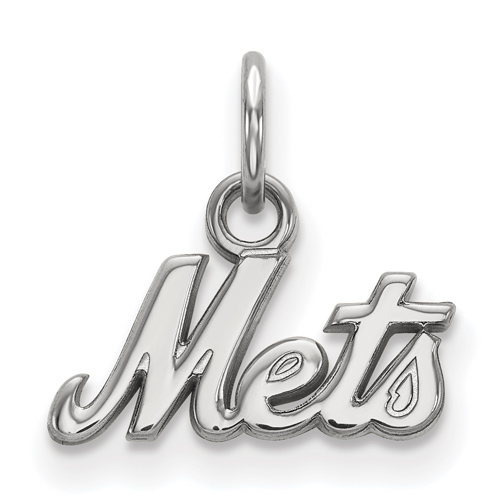 Sterling Silver Extra Small New York Mets Logo Pendant