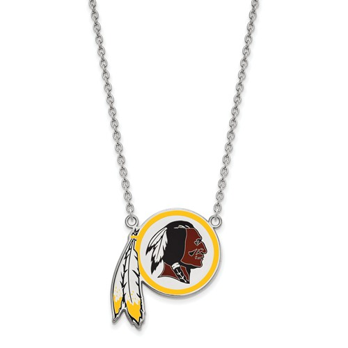 Washington Redskins Enamel Pendant Necklace Sterling Silver