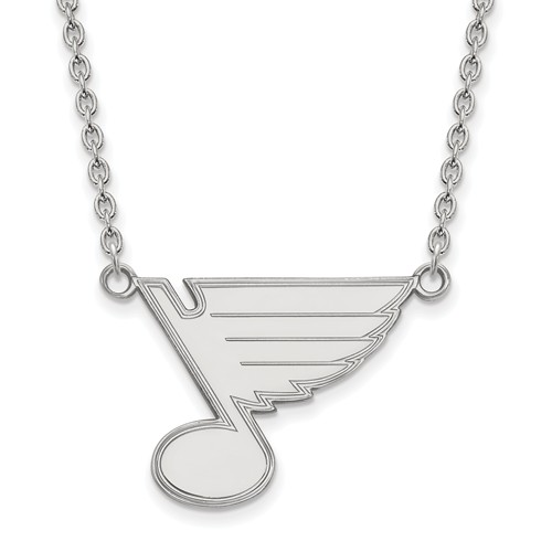Sterling Silver St. Louis Blues Necklace