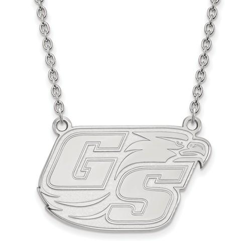 14k White Gold Georgia Southern University Logo Necklace
