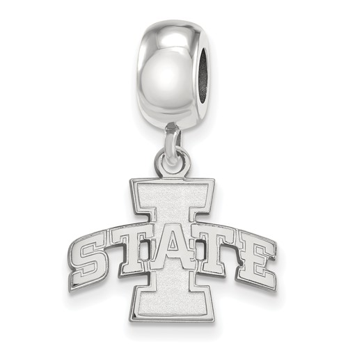 Iowa State University Small Dangle Bead Sterling Silver