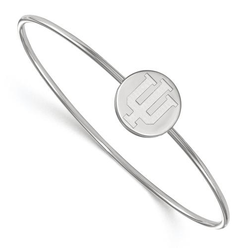 Sterling Silver 8in Indiana University Slip on Wire Bracelet