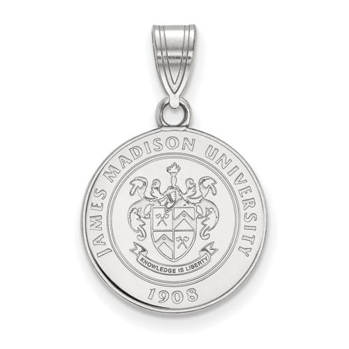 Sterling Silver 5/8in James Madison University Crest Pendant