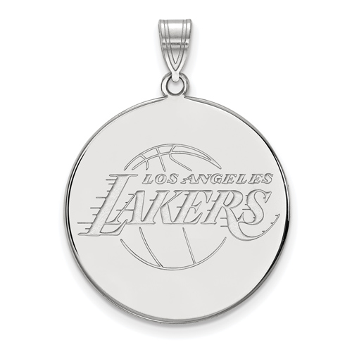 Sterling Silver 1in Los Angeles Lakers Logo Pendant