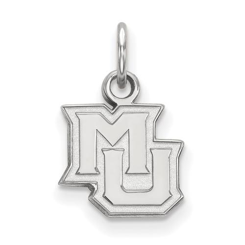 Marquette University MU Pendant 1/2in 14k White Gold