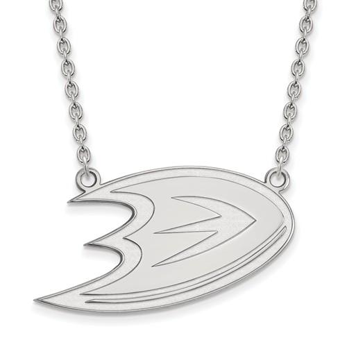 Sterling Silver Anaheim Ducks Logo Necklace