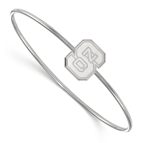 Sterling Silver 7in North Carolina State Slip on Wire Bangle
