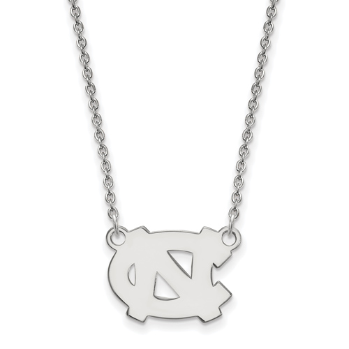 Silver University of North Carolina NC 18in Necklace