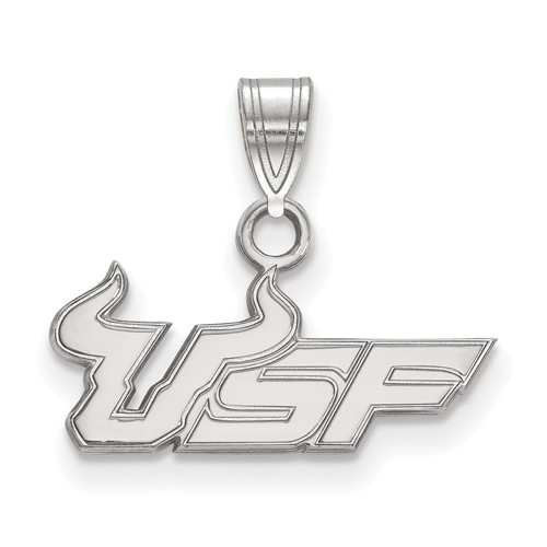 Sterling Silver University of South Florida USF Charm 3/8in