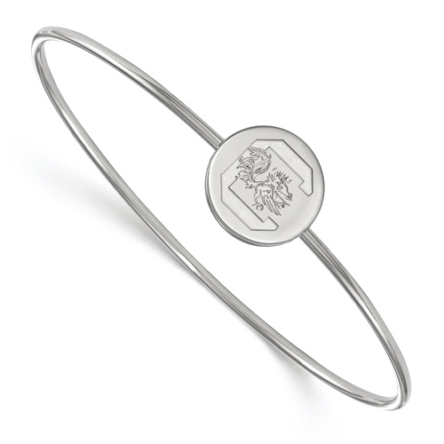Sterling Silver 7in University of South Carolina Slip on Wire Bangle