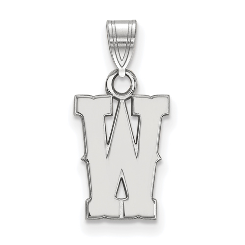 Sterling Silver 1/2in University of Wyoming W Pendant