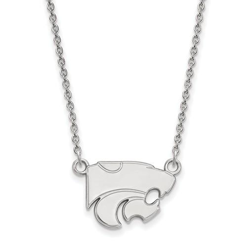 Kansas State University Wildcat Pendant on Necklace Sterling Silver