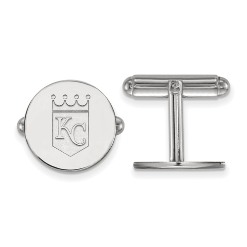 Sterling Silver Kansas City Royals Cuff Links