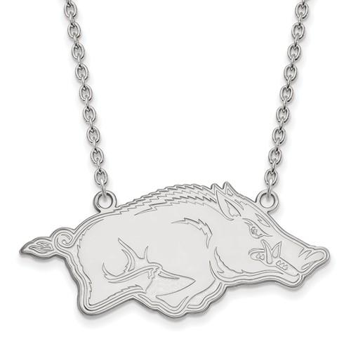Sterling Silver University of Arkansas Razorback Necklace