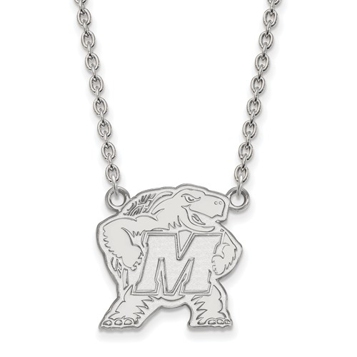 Sterling Silver University of Maryland Terrapin Necklace