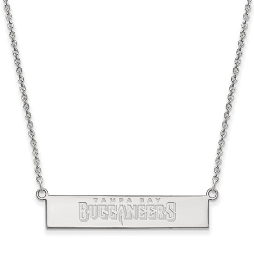 Sterling Silver Tampa Bay Buccaneers Bar Necklace