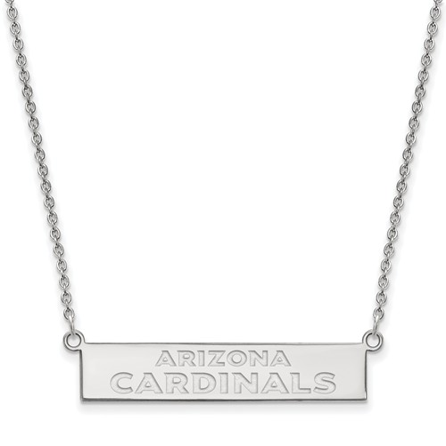 Sterling Silver Arizona Cardinals Bar Necklace