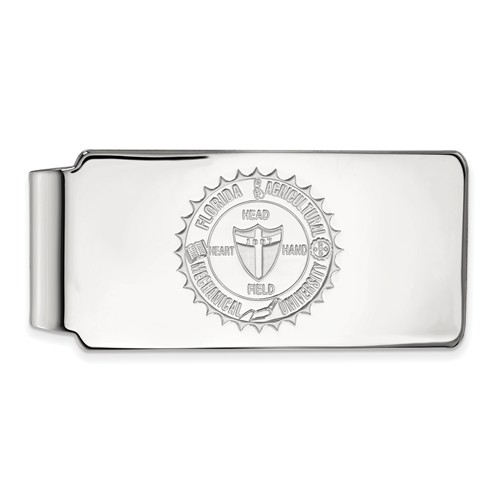 14k White Gold Florida A&M University Crest Money Clip