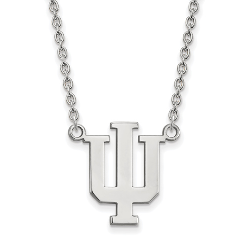 Sterling Silver Indiana University Logo Pendant with 18in Chain