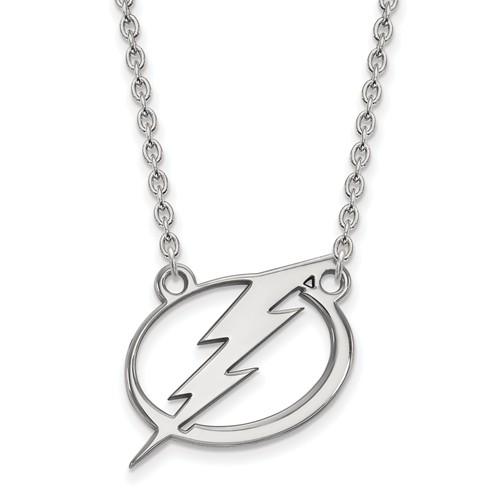 Sterling Silver Tampa Bay Lightning Necklace