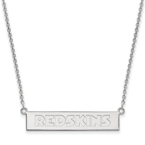 Sterling Silver Washington Redskins Bar Necklace