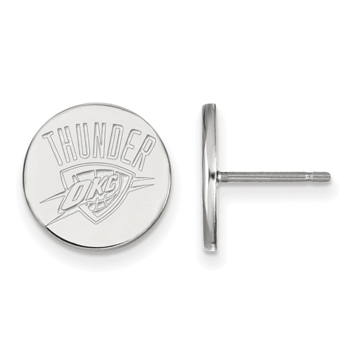 Sterling Silver Oklahoma City Thunder Small Post Earrings
