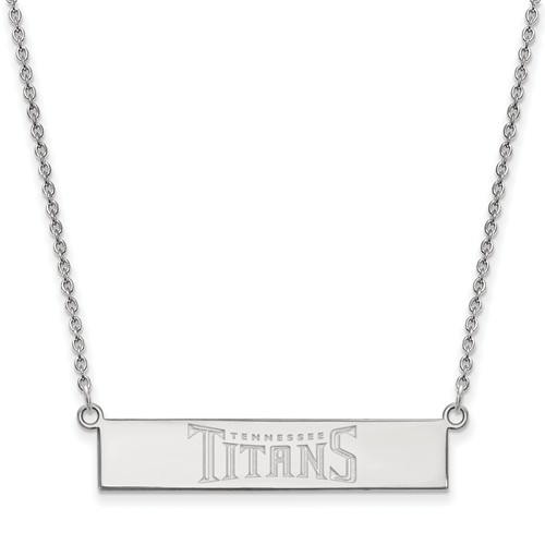 Sterling Silver Tennessee Titans Bar Necklace
