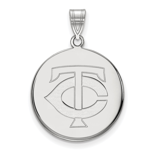 10k White Gold 3/4in Minnesota Twins Pendant