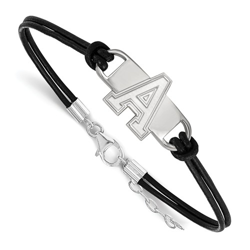 United States Military Academy Leather Bracelet Sterling Silver