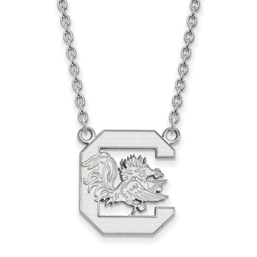 Sterling Silver University of South Carolina Logo Pendant with 18in Chain