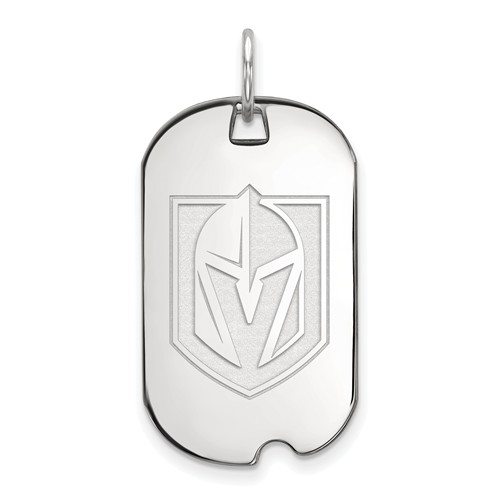 Sterling Silver Vegas Golden Knights Small Dog Tag