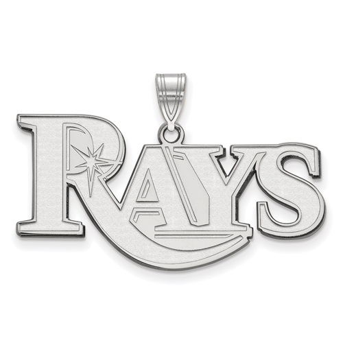 Sterling Silver Large Tampa Bay Rays Pendant