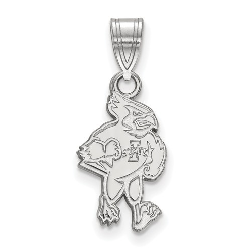 Iowa State University Cy Pendant 5/8in Sterling Silver