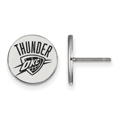 Sterling Silver Oklahoma City Thunder Small Enamel Post Earrings