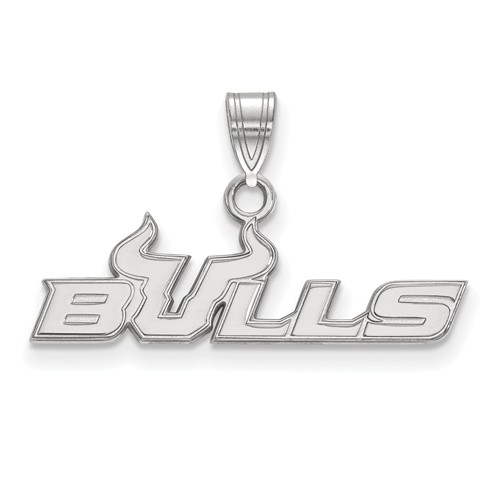Sterling Silver University of South Florida BULLS Charm 3/8in