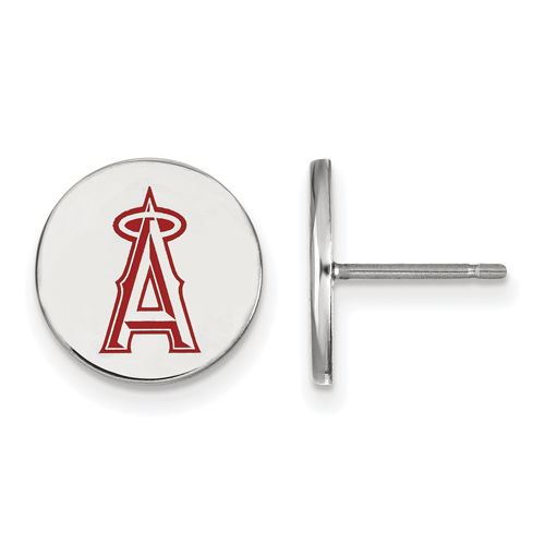 Sterling Silver Los Angeles Angels Small Enamel Post Earrings