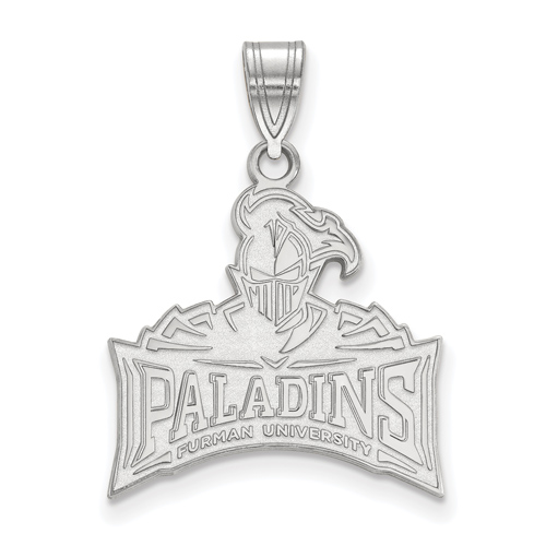 Sterling Silver 3/4in Furman University Paladins Pendant
