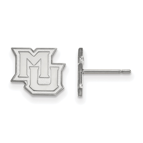 Marquette University Extra Small Post Earrings 14k White Gold