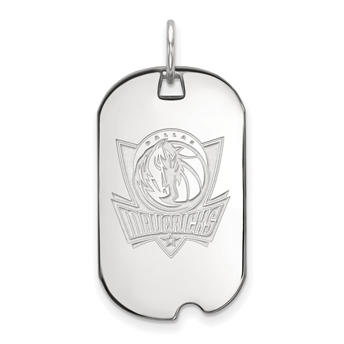 Sterling Silver Small Dallas Mavericks Dog Tag