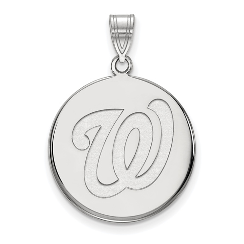 Sterling Silver 3/4in Washington Nationals Pendant